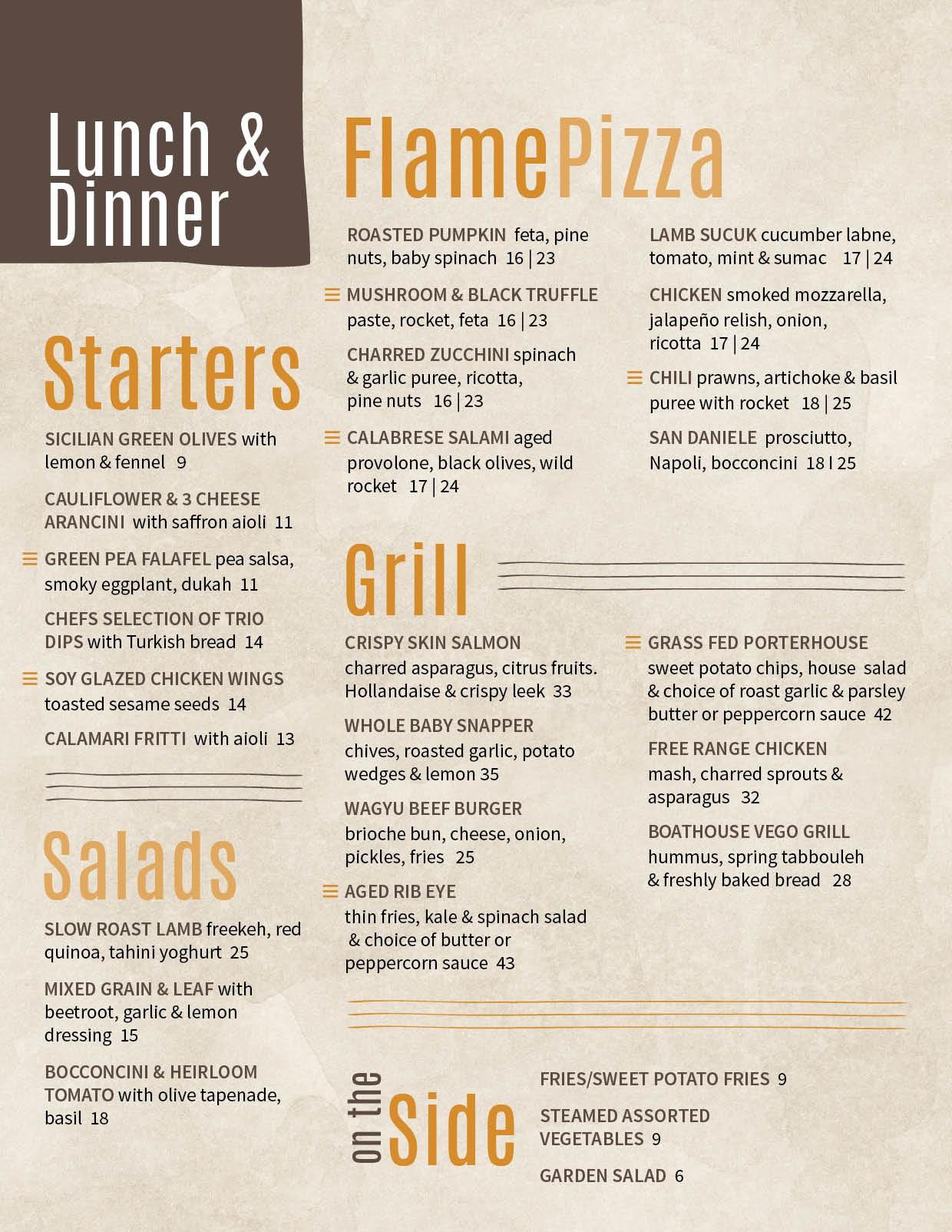 Design a new menu for iconic riverside cafe/restaurant