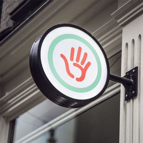 Handprint icon for marketing company