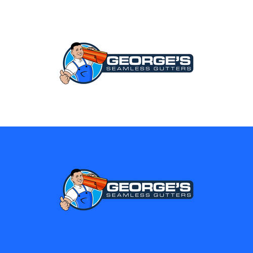 logo concept for George's Seamless Gutters
