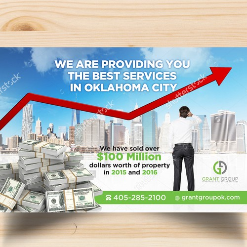 Design attention grabbing postcard for Commercial Real Estate Industry