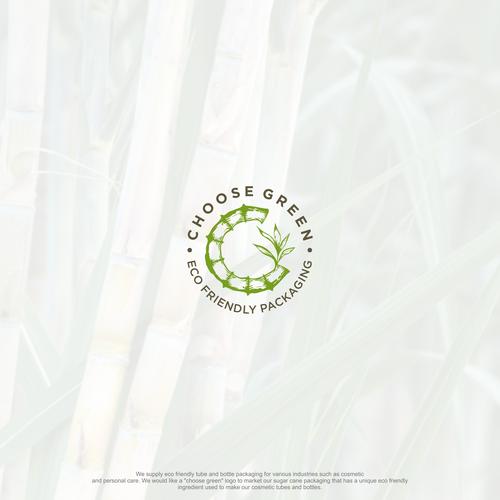 """C"" sugar cane concept logo"