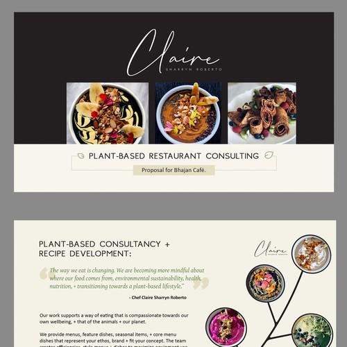 Artsy, Plant-based Restaurant Presentation