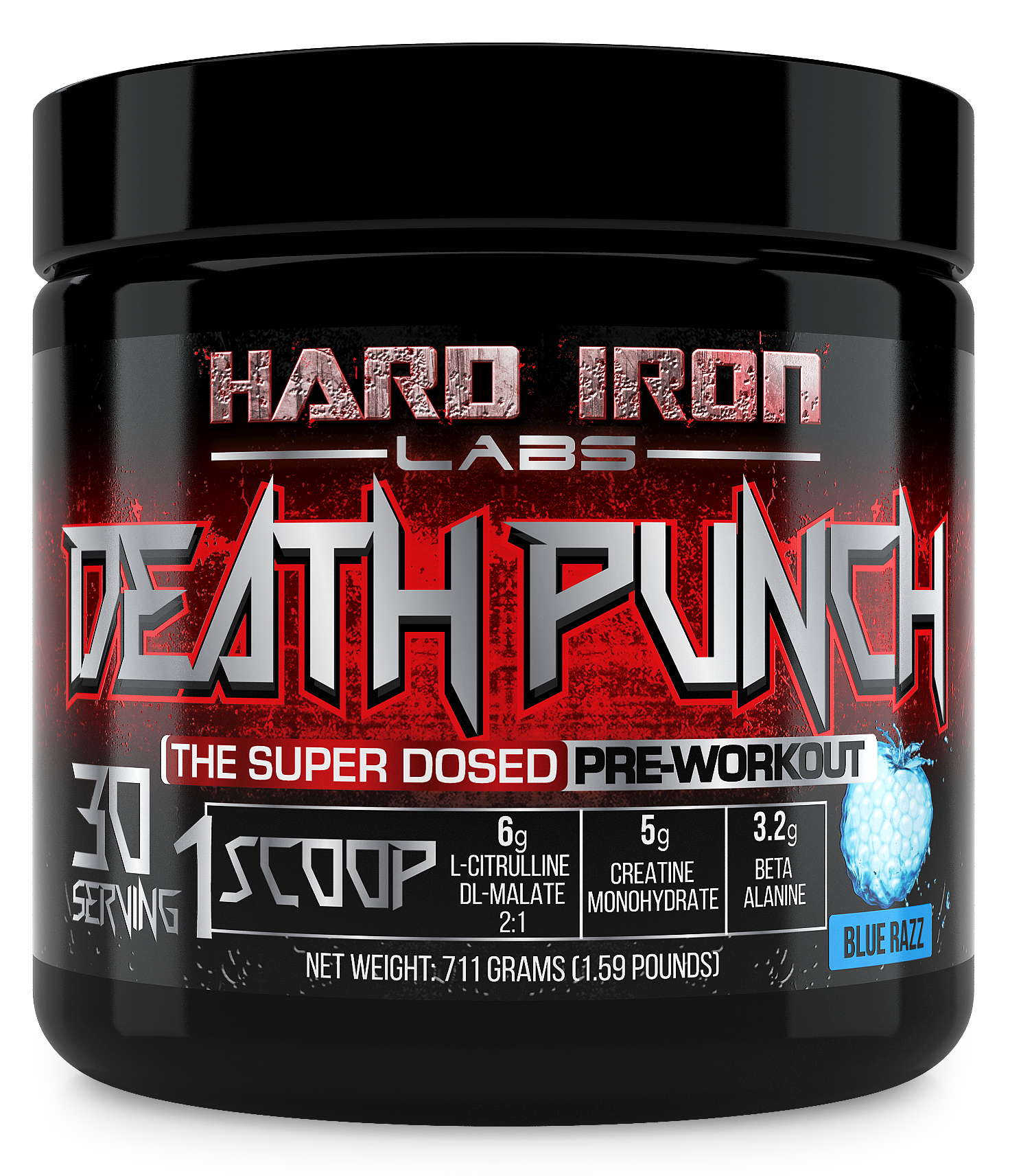 "Hard Iron Labs needs a ""Hardcore"" Label for its Pre-Workout Supplement Bottle"