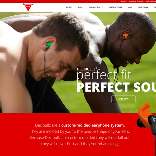 Headphones product website