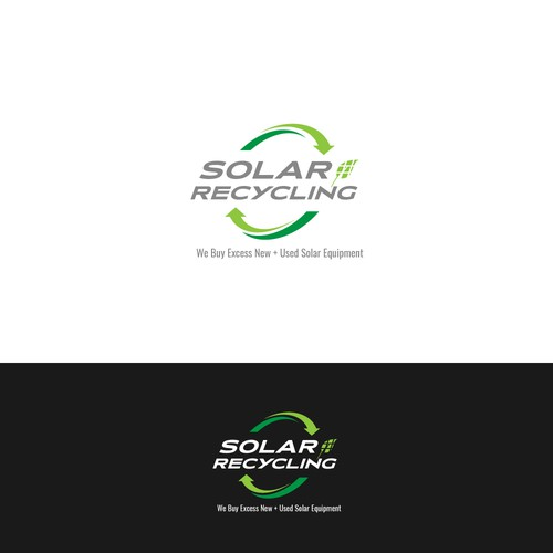 Logo concept for solar recycling company