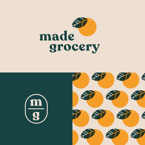 Vintage inspired logo for local grocery store