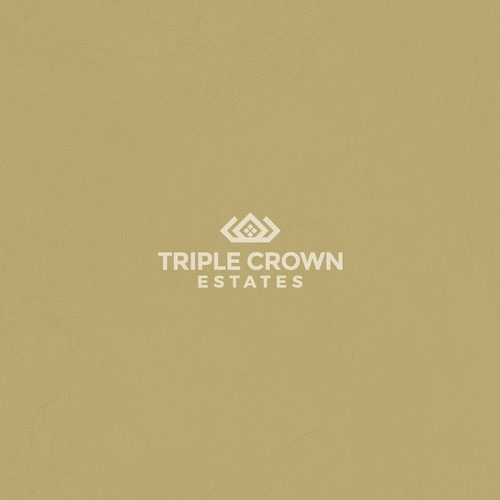 Triple Crown Estates - Subdivision Signage & Logo - subtle reference to horses, luxury