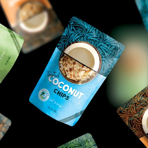 Coconut chips_ Stand up Pouch design for Chipper