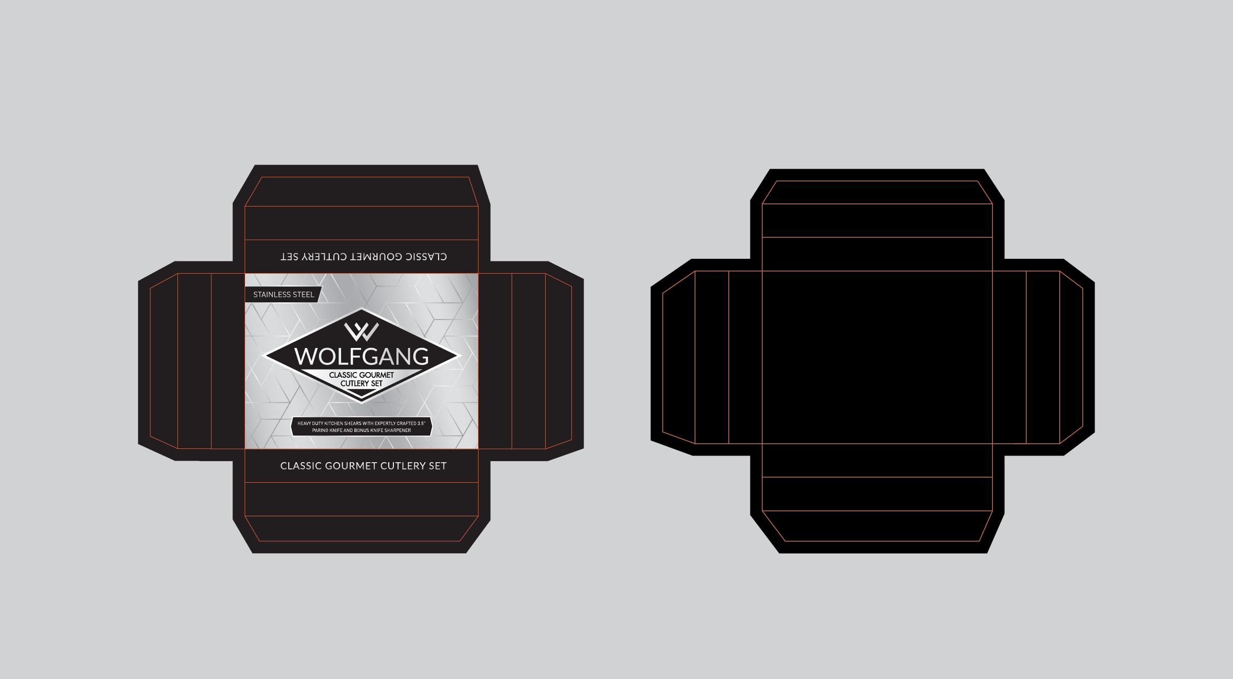 Product packaging for Gourmet Cutlery Set - Kitchen Shears, Paring Knife & Bonus Knife Sharpener