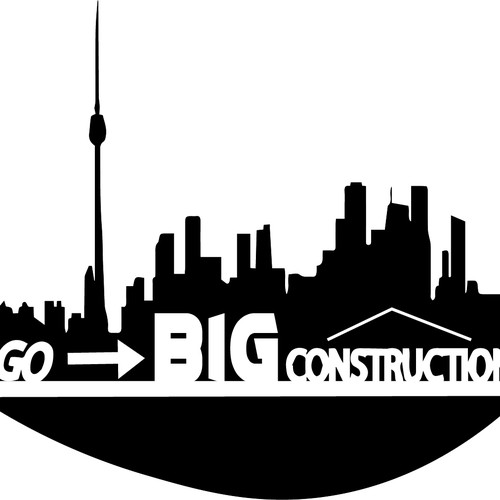 Bold logo design for construction business
