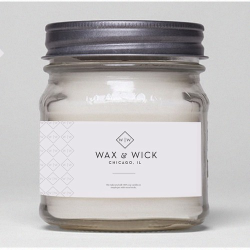 Logo For Wax & Wick ( mens candle)