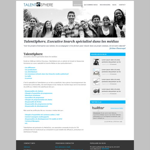 Help Talent Sphere with a new website design