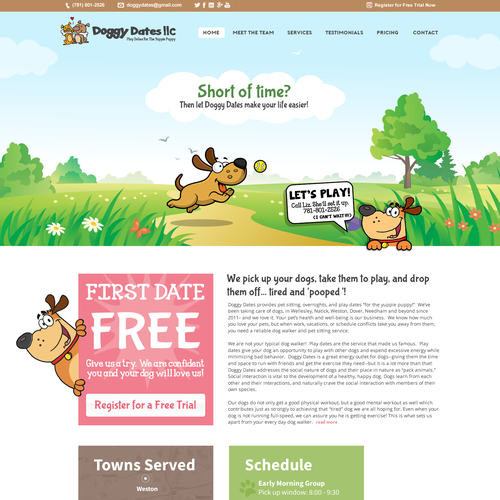 Website Design for Fun Dog Daycare