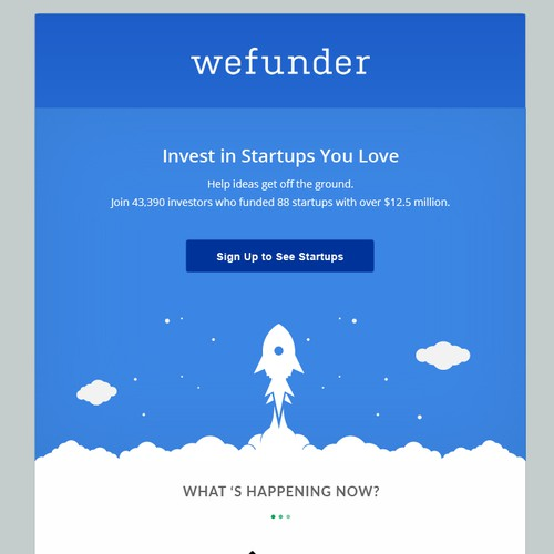Email Template for wefunder