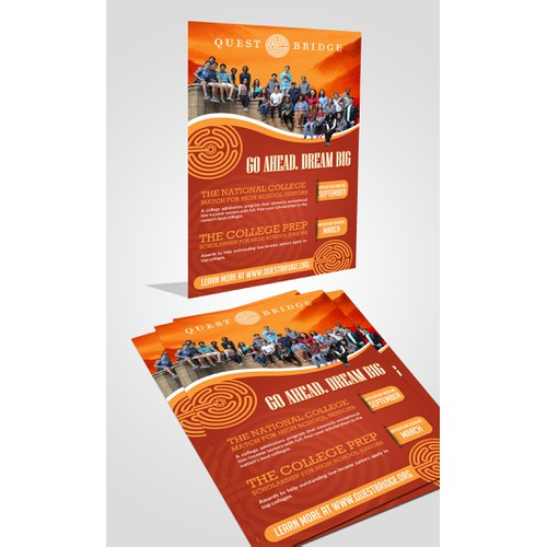 99nonprofits: Help low-income youth attend a top college! Design an eye-catching poster.