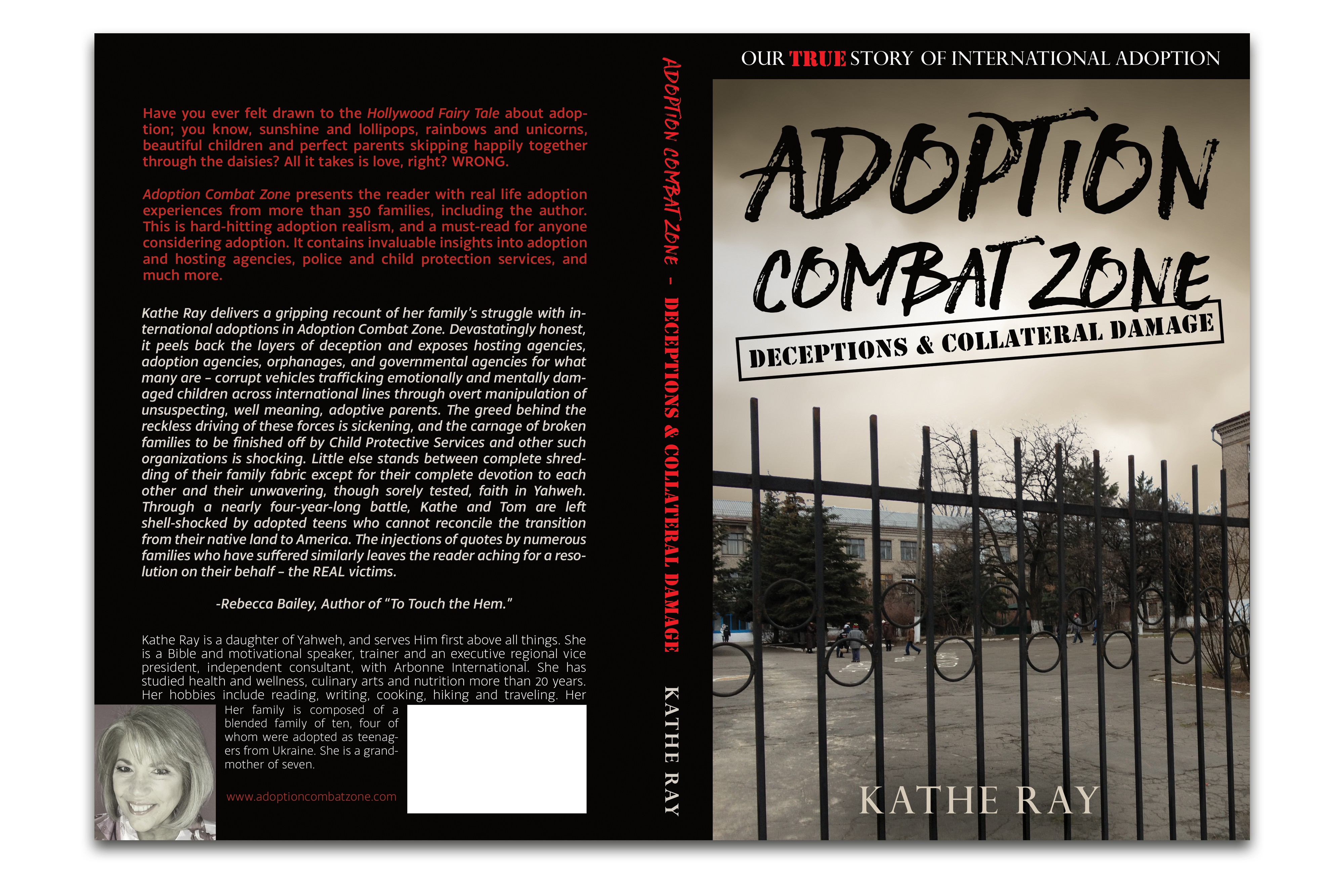 Design a powerful book cover for Adoption Combat Zone