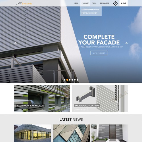 F Shape landing page