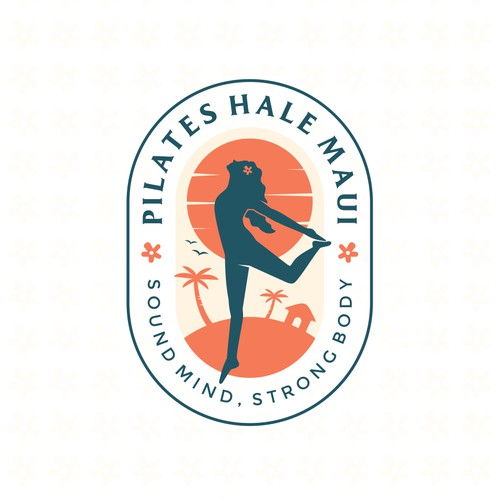 Design a strong, tropical logo for our Hawaiian boutique pilates studio.