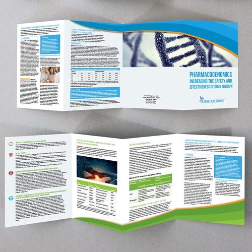 Brochure for Genetic Response, LLC (a genetic DNA testing company)