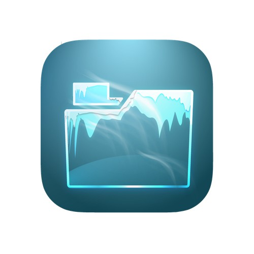 An app icon for a file tool for iOS, Android, MacOS, Windows.