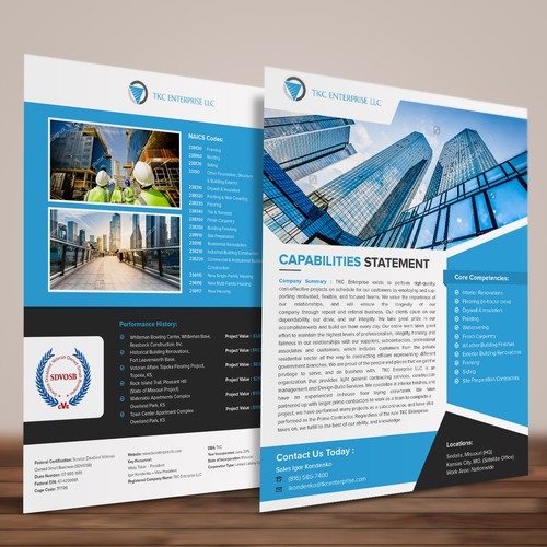 Simple and elegant double side flyer design