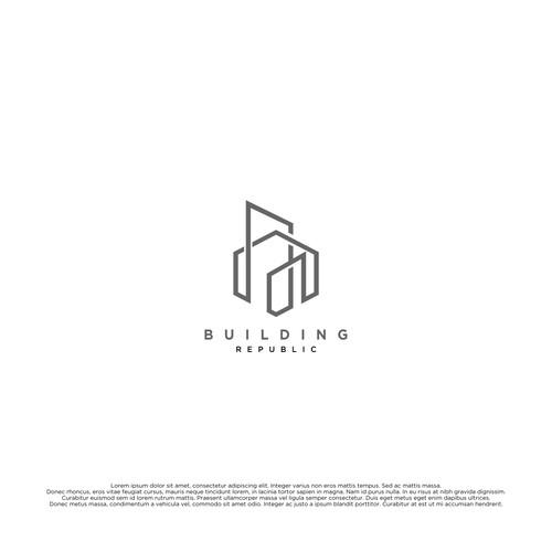 Simple logo for Building Republic
