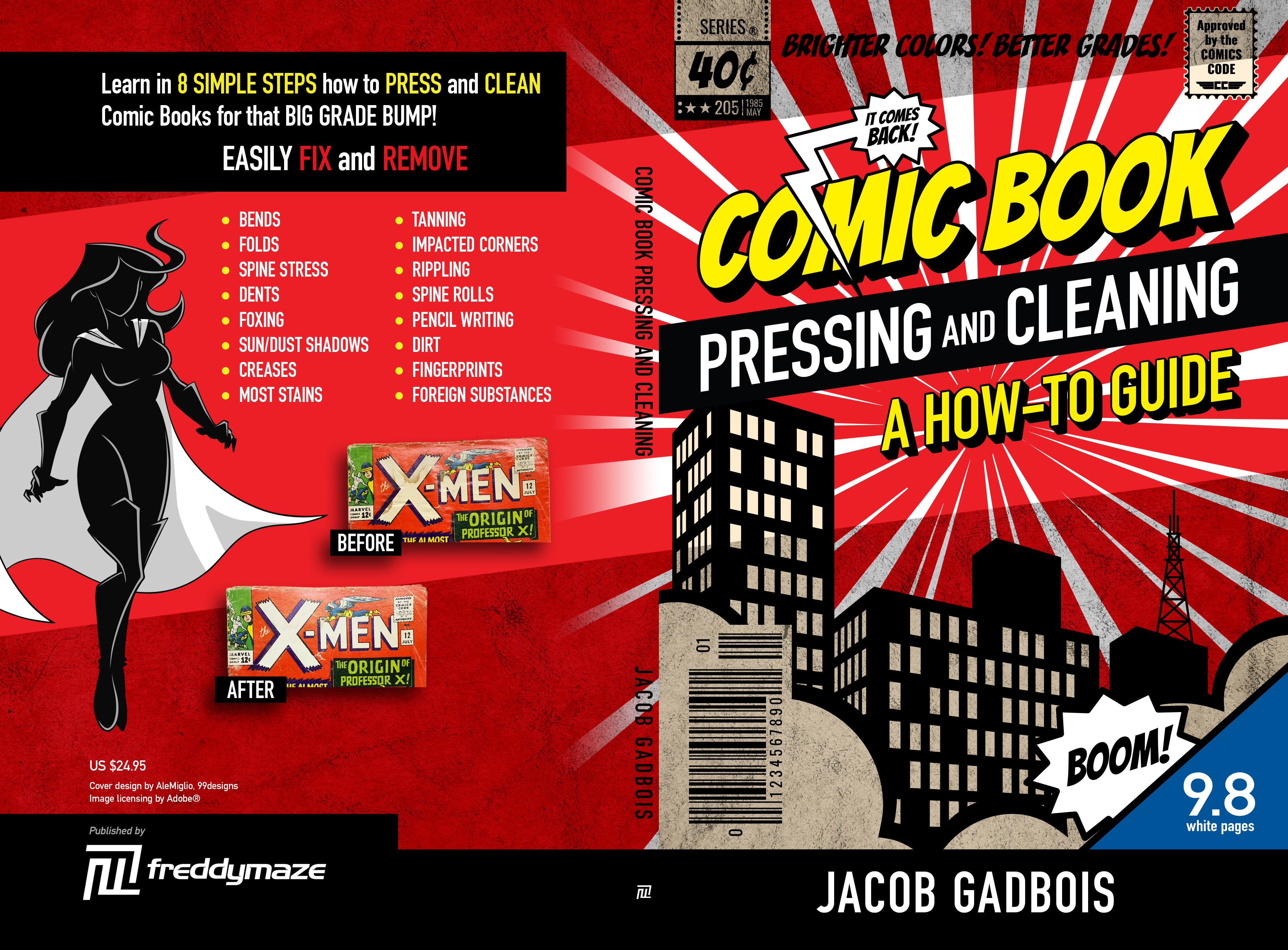 Paperback book cover for comic book restoration techniques!