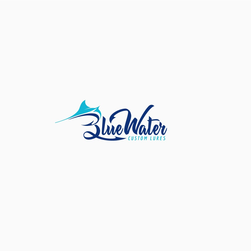 Create a Brand Identity Logo for Blue water Custom Lures