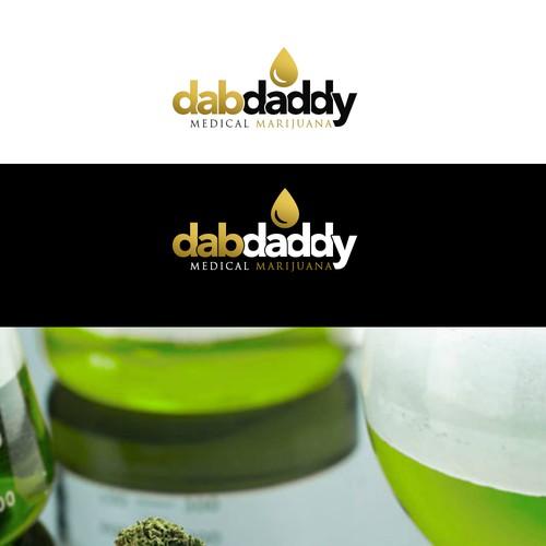 Bold logo for dab daddy medical marijuana