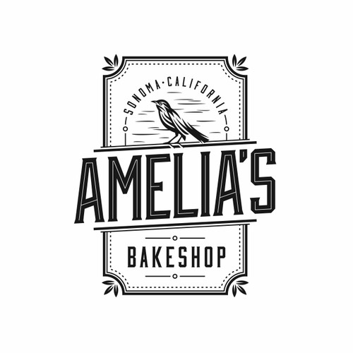 Logo and business card for Amelia's bakeshop