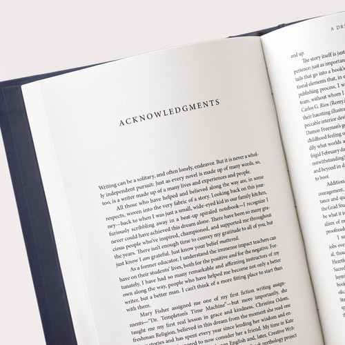 Typesetting & Interior book design for a debut novel, A Dream of Darkness.