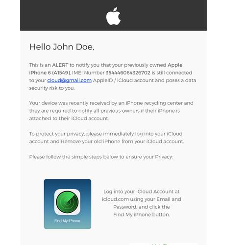 Apple Alert For Refurbished Phones
