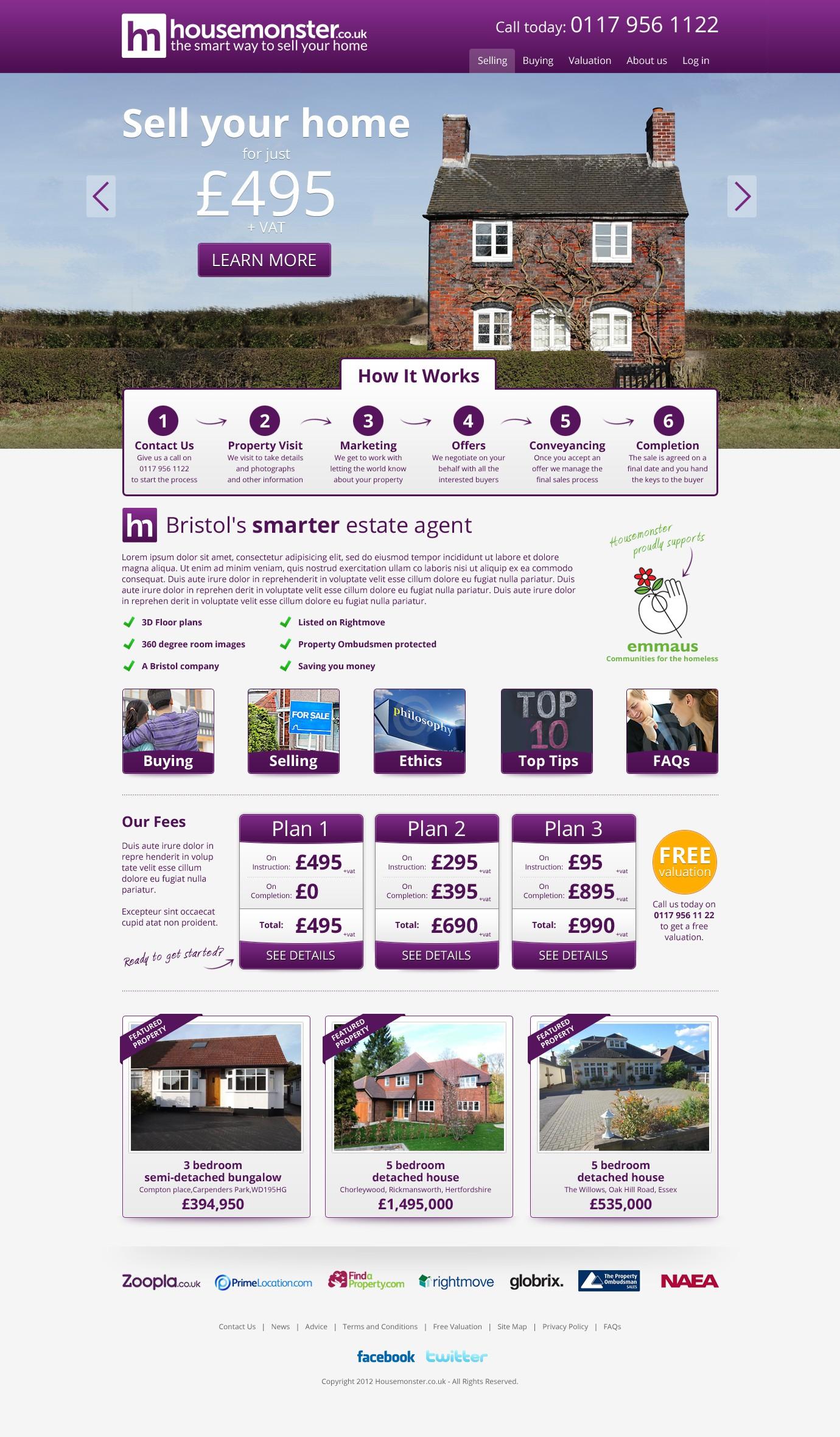 HOUSEMONSTER.co.uk needs YOU to design its brand new website!