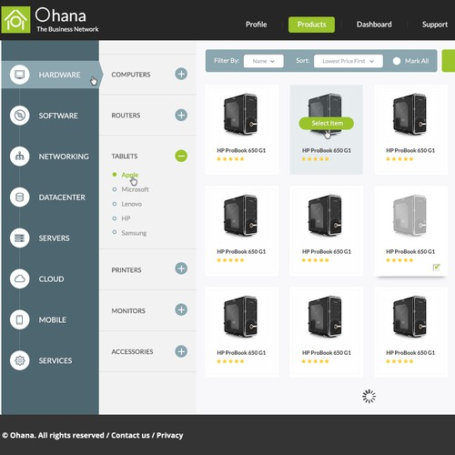 Ohana Product Page