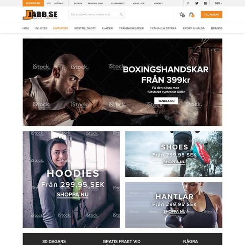 Website concept for a Swedish sportswear website