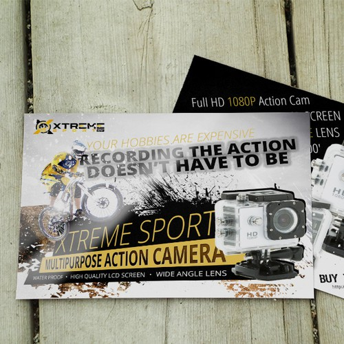 Postcard for action camera