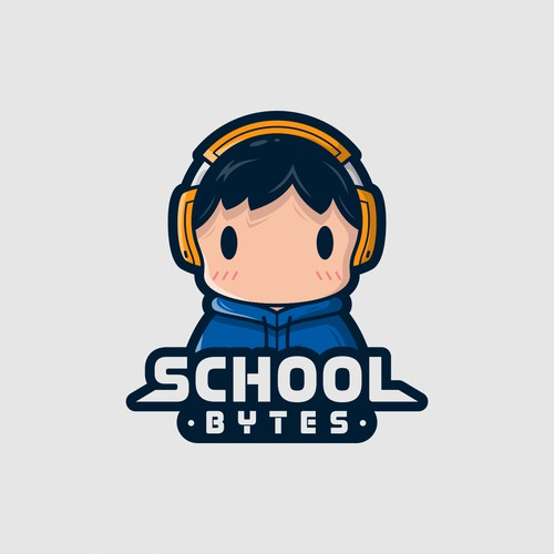Computer kid logo for Schoolbytes