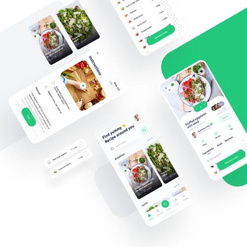 Yummy Recipes App Concept