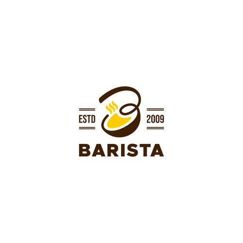 Letter B for Barista logo