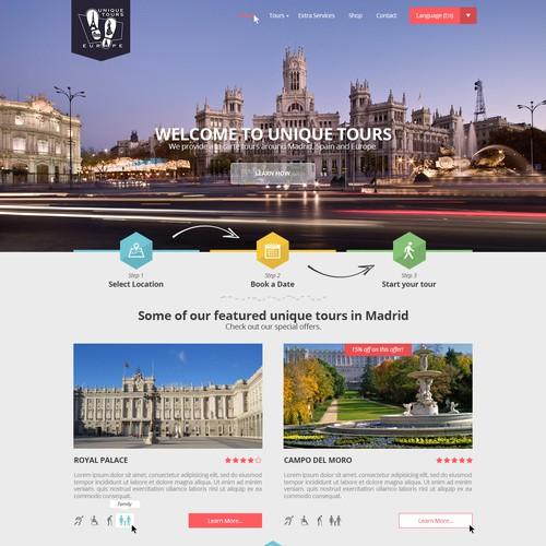 Landing page for Unique Tours Europe