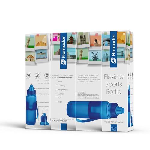 Packaging for flexible sports bottle