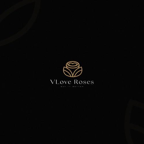 Rose Flower Logo Concept
