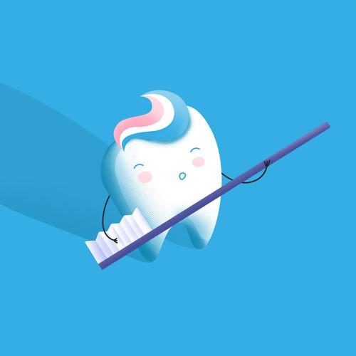 Illustration for pediatric dental office