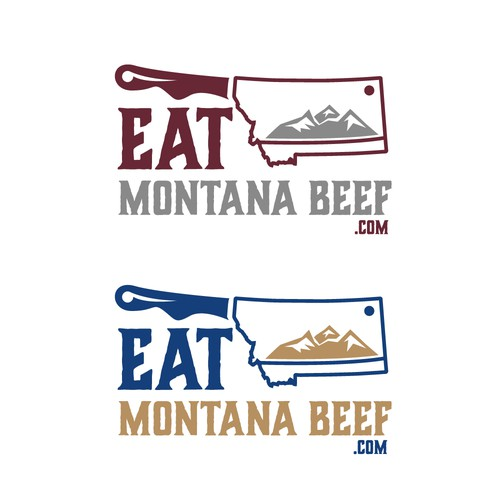Logo concept of Montana beef company