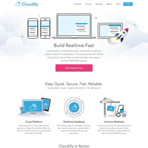 Fun and creative website for a cloud chat app