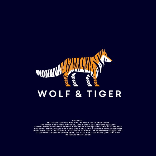 Unique Logo Design Concept for Wolf & Tiger