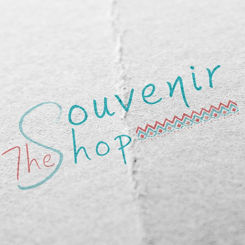 Create a Logo for The Souvenir Shop, a travel series and online store