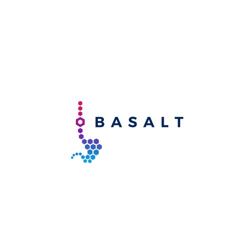 Bold logo design concept for Basalt research project.
