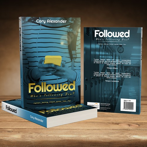 Book Cover Concept for Followed: Who's Following YOU?