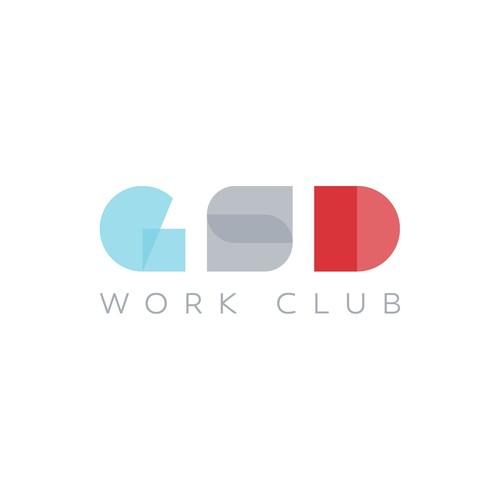Branding logo design for work club